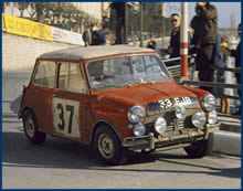Paddy Hopkirk racing in a Mini